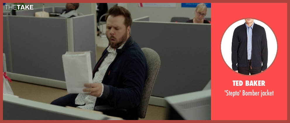 Ted Baker blue jacket from The Boss seen with Tyler Labine (Mike Beals)