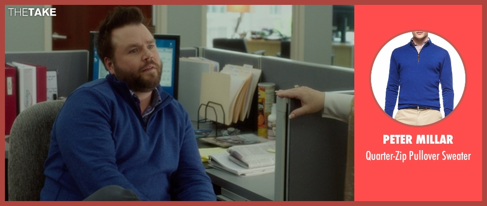 Peter Millar blue sweater from The Boss seen with Tyler Labine (Mike Beals)