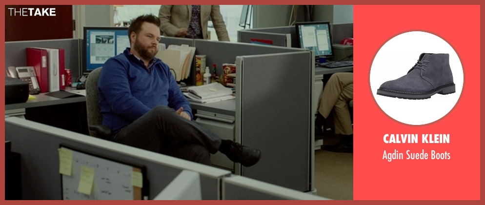 Calvin Klein gray boots from The Boss seen with Tyler Labine (Mike Beals)