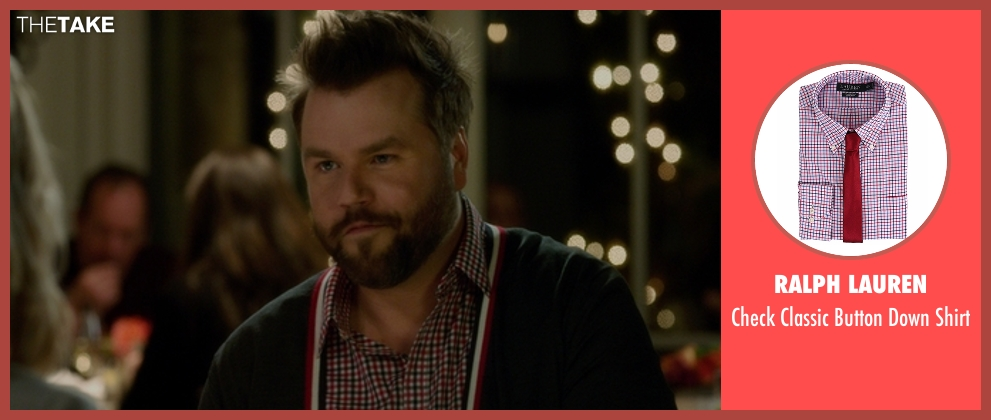 Ralph Lauren red shirt from The Boss seen with Tyler Labine (Mike Beals)