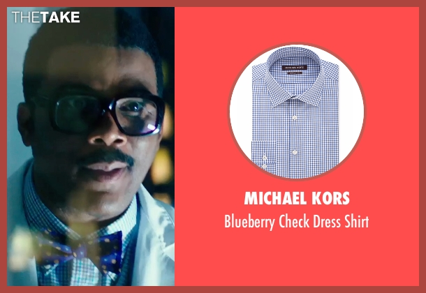 Michael Kors blue shirt from Teenage Mutant Ninja Turtles: Out of the Shadows seen with Tyler Perry (Baxter Stockman)