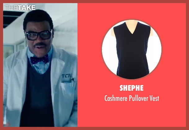Shephe blue vest from Teenage Mutant Ninja Turtles: Out of the Shadows seen with Tyler Perry (Baxter Stockman)