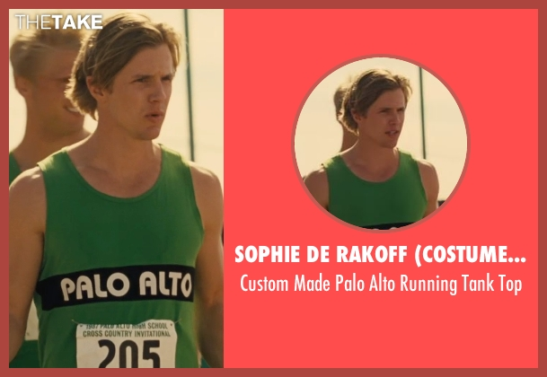 Sophie De Rakoff (Costume Designer) green top from McFarland, USA seen with Tyler Sellers (Palo Alto Runner #2)