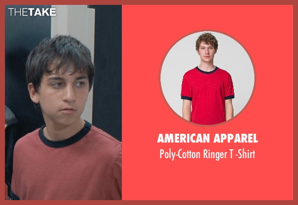 American Apparel red -shirt from Boyhood seen with Tyler Strother (Bully 2)
