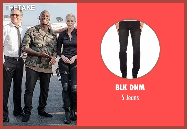 Blk Dnm black jeans from Fast 8 seen with Tyrese Gibson (Roman Pearce)