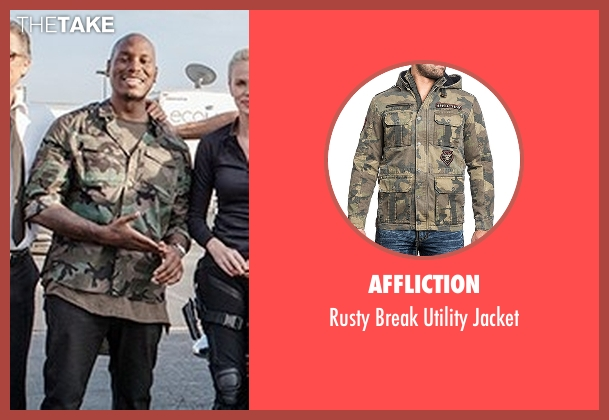 Affliction jacket from Fast 8 seen with Tyrese Gibson (Roman Pearce)