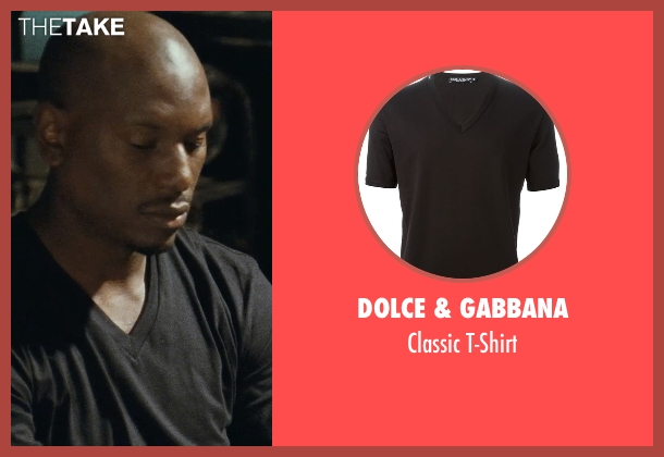 Dolce & Gabbana black t-shirt from Fast Five seen with Tyrese Gibson (Roman Pearce)