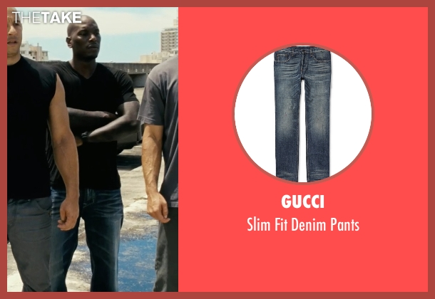 Gucci blue pants from Fast Five seen with Tyrese Gibson (Roman Pearce)