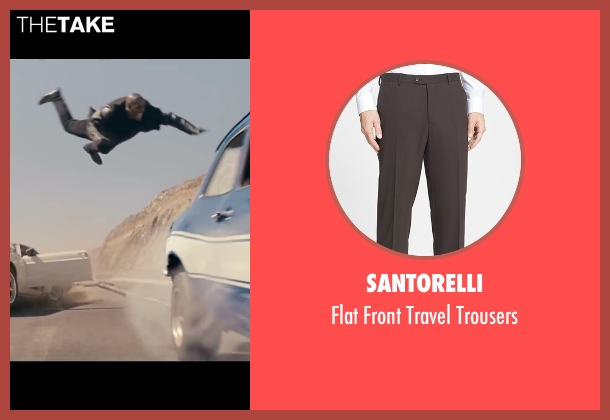 Santorelli black trousers from Fast & Furious 6 seen with Tyrese Gibson (Roman Pearce)