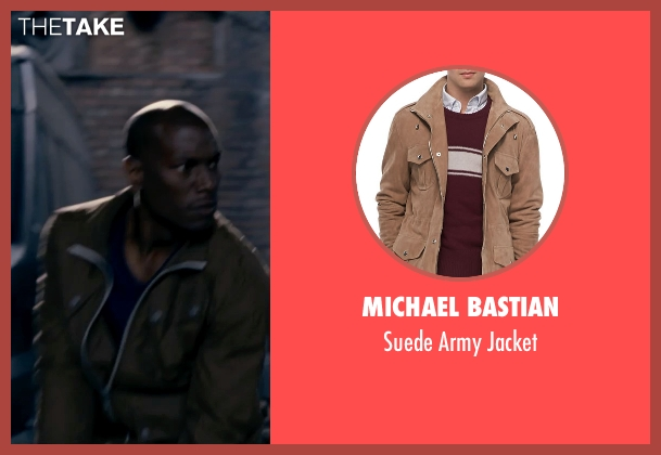 Michael Bastian brown jacket from Fast & Furious 6 seen with Tyrese Gibson (Roman Pearce)