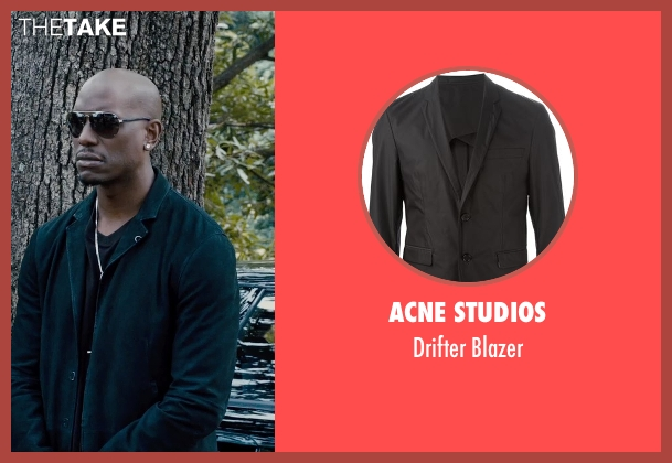 Acne Studios black blazer from Furious 7 seen with Tyrese Gibson (Roman Pearce)
