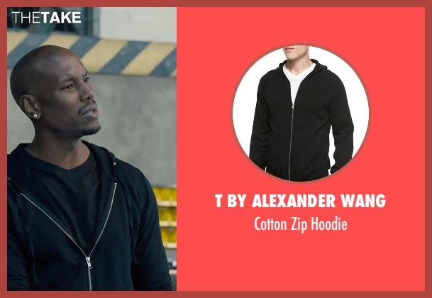 T by Alexander Wang	 black hoodie from Furious 7 seen with Tyrese Gibson (Roman Pearce)