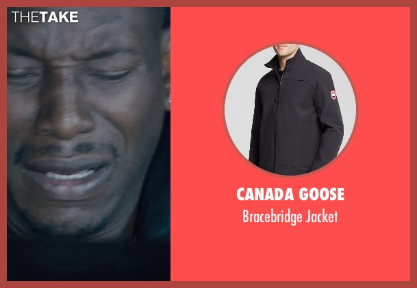 Canada Goose black jacket from Furious 7 seen with Tyrese Gibson (Roman Pearce)