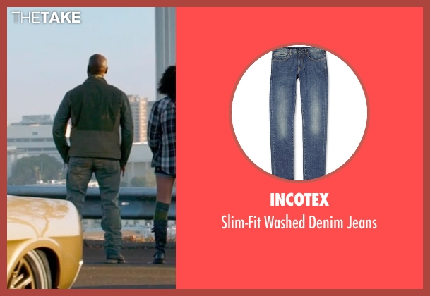 Incotex blue jeans from Furious 7 seen with Tyrese Gibson (Roman Pearce)
