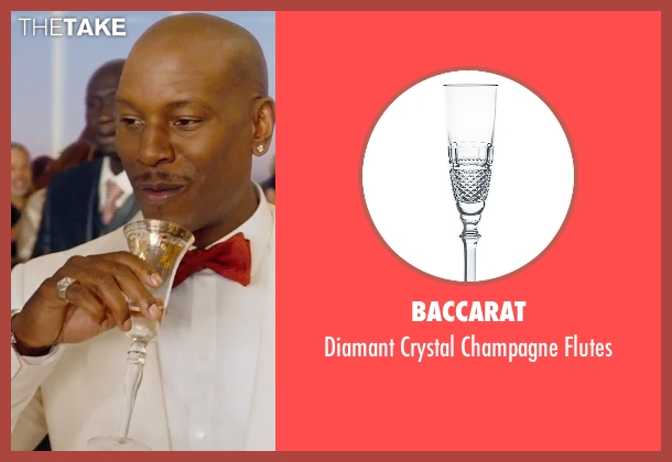 Baccarat flutes from Furious 7 seen with Tyrese Gibson (Roman Pearce)