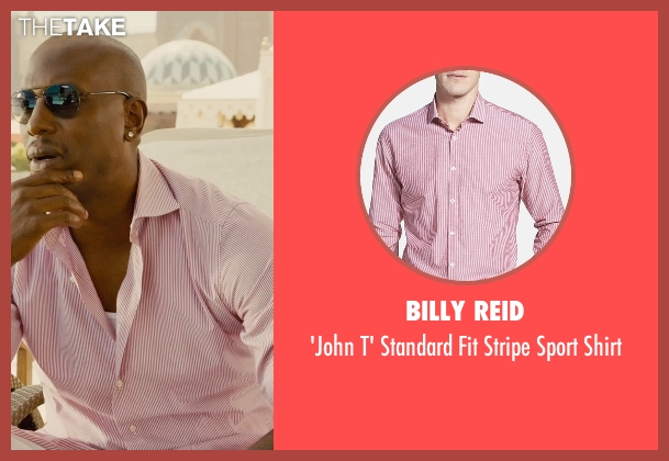 Billy Reid pink shirt from Furious 7 seen with Tyrese Gibson (Roman Pearce)