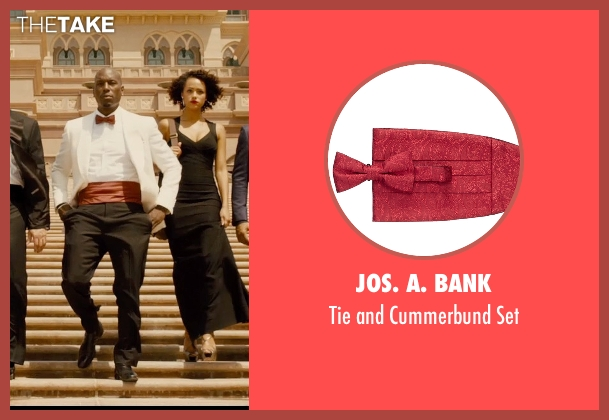 Jos. A. Bank red set from Furious 7 seen with Tyrese Gibson (Roman Pearce)