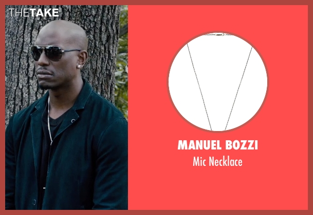 Manuel Bozzi silver necklace from Furious 7 seen with Tyrese Gibson (Roman Pearce)