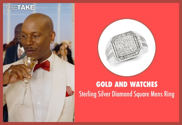 Gold and Watches silver ring from Furious 7 seen with Tyrese Gibson (Roman Pearce)