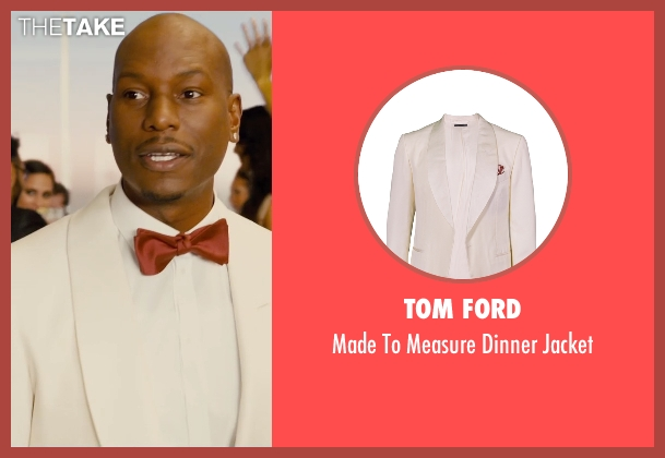 Tom Ford white jacket from Furious 7 seen with Tyrese Gibson (Roman Pearce)