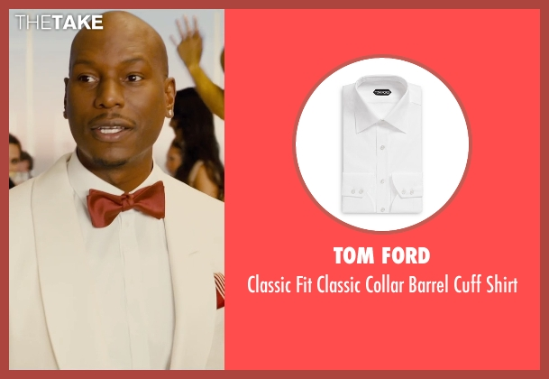 Tom Ford white shirt from Furious 7 seen with Tyrese Gibson (Roman Pearce)
