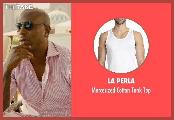 La Perla white top from Furious 7 seen with Tyrese Gibson (Roman Pearce)