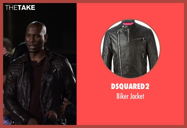 Dsquared2 black jacket from Ride Along 2 seen with Tyrese Gibson (D.J)