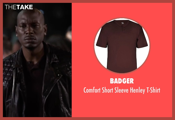 Badger red t-shirt from Ride Along 2 seen with Tyrese Gibson (D.J)
