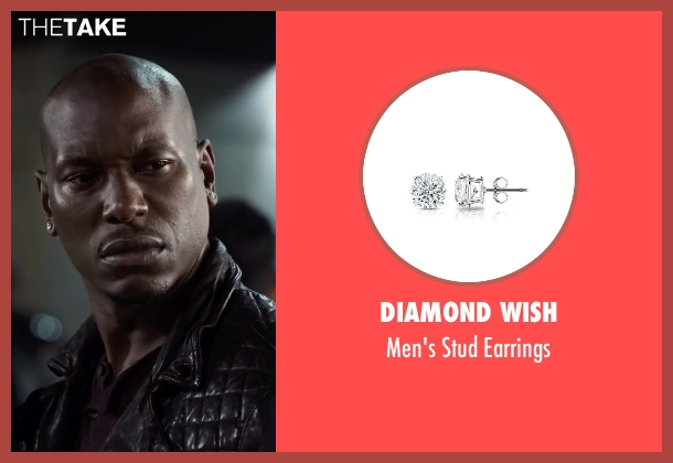 Diamond Wish silver earrings from Ride Along 2 seen with Tyrese Gibson (D.J)