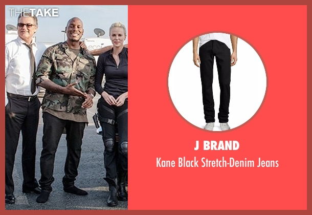 G-Star Raw blue jeans from The Fate of the Furious seen with Tyrese Gibson (Roman Pearce)