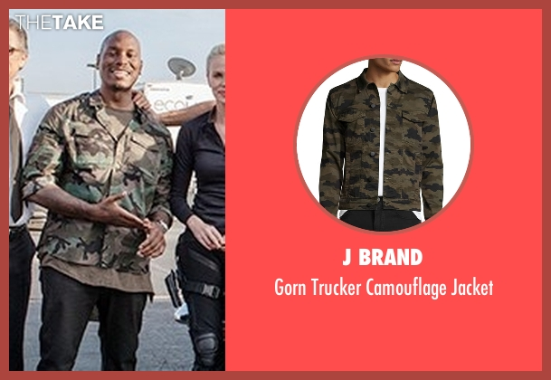 Affliction green jacket from The Fate of the Furious seen with Tyrese Gibson (Roman Pearce)