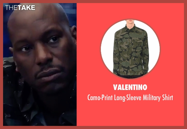 Valentino shirt from The Fate of the Furious seen with Tyrese Gibson (Roman Pearce)