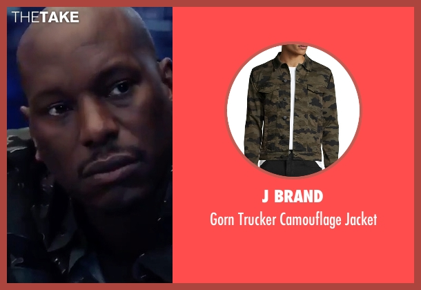 J Brand green jacket from The Fate of the Furious seen with Tyrese Gibson (Roman Pearce)