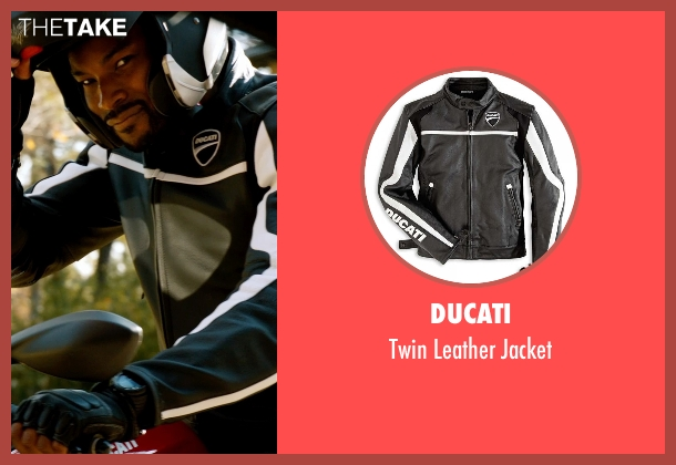 Ducati black jacket from Addicted seen with Tyson Beckford (Corey)