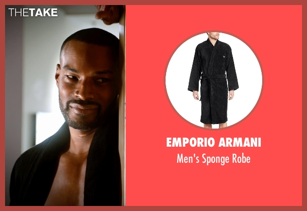 Emporio Armani black robe from Addicted seen with Tyson Beckford (Corey)