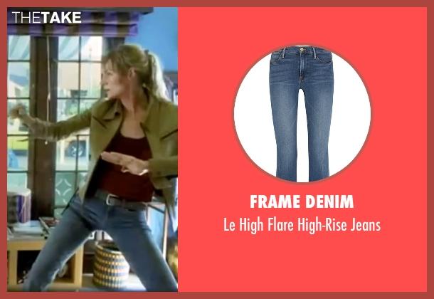 Frame Denim blue jeans from Kill Bill: Vol. 1 seen with Uma Thurman (The Bride)