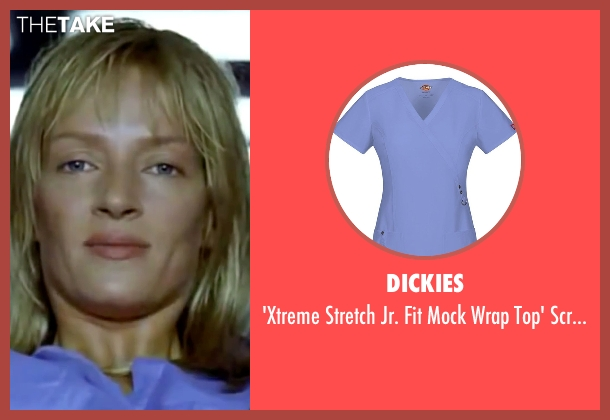 Dickies blue top from Kill Bill: Vol. 1 seen with Uma Thurman (The Bride)
