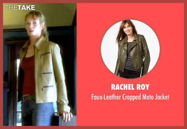 Rachel Roy green jacket from Kill Bill: Vol. 1 seen with Uma Thurman (The Bride)