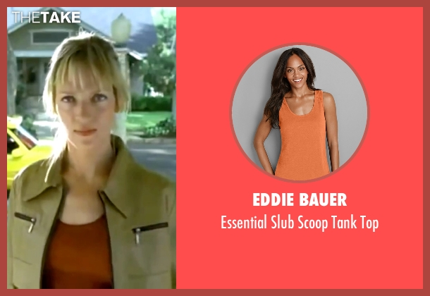 Eddie Bauer orange top from Kill Bill: Vol. 1 seen with Uma Thurman (The Bride)