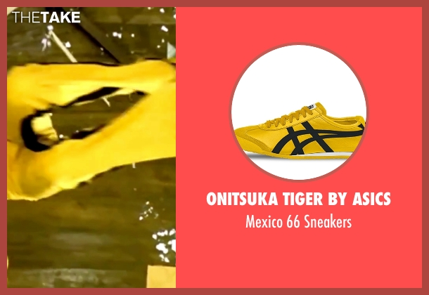 Onitsuka Tiger by Asics yellow sneakers from Kill Bill: Vol. 1 seen with Uma Thurman (The Bride)