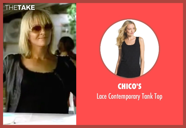 Chico's black top from Kill Bill: Vol. 2 seen with Uma Thurman (Beatrix Kiddo)