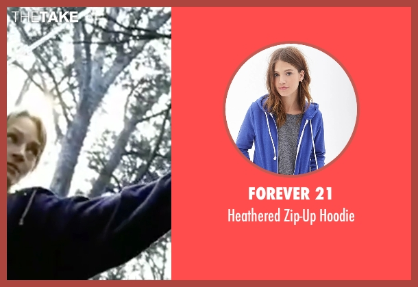 Forever 21 blue hoodie from Kill Bill: Vol. 2 seen with Uma Thurman (Beatrix Kiddo)
