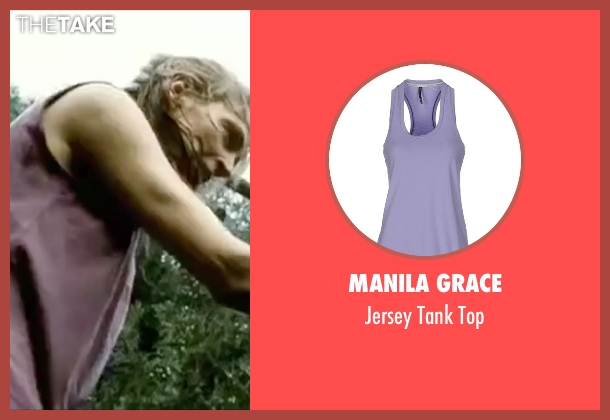 Manila Grace purple top from Kill Bill: Vol. 2 seen with Uma Thurman (Beatrix Kiddo)