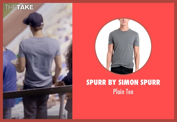 Spurr by Simon Spurr gray tee from About Last Night seen with Unknown Actor (Unknown Character)