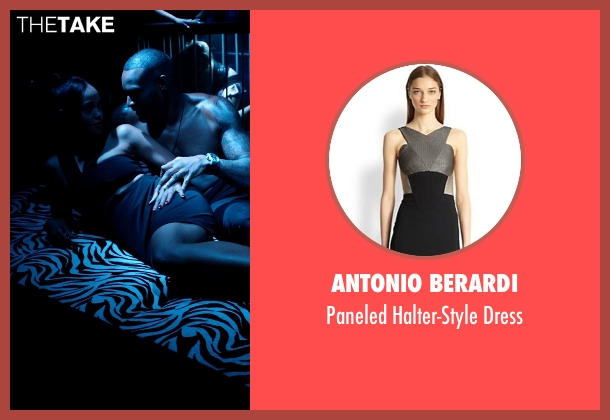 Antonio Berardi black dress from Addicted seen with Unknown Actor (Unknown Character)
