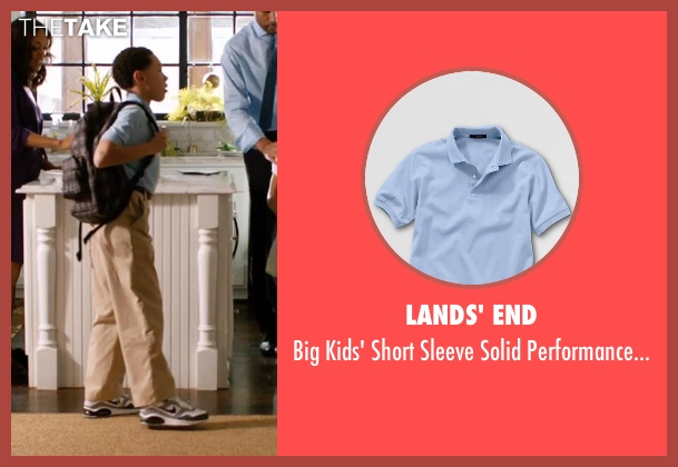Lands' End blue shirt from Addicted seen with Unknown Actor (Unknown Character)