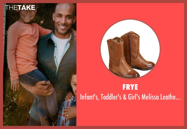 Frye brown boots from Addicted seen with Unknown Actor (Unknown Character)