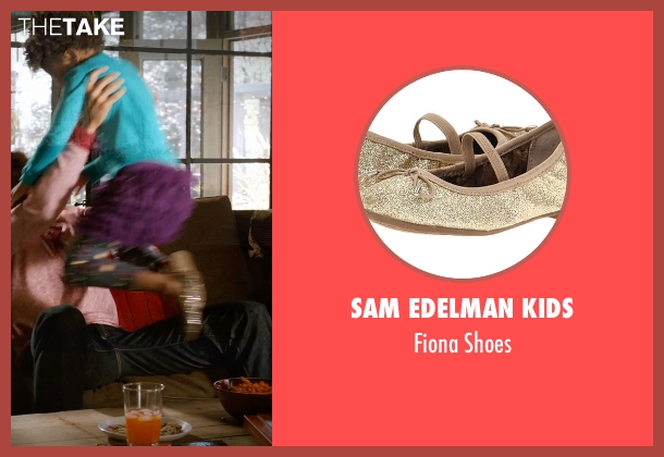 Sam Edelman Kids gold shoes from Addicted seen with Unknown Actor (Unknown Character)