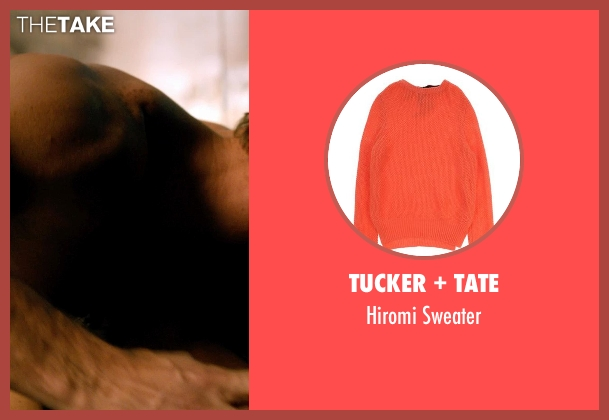 Tucker + Tate orange sweater from Addicted seen with Unknown Actor (Unknown Character)
