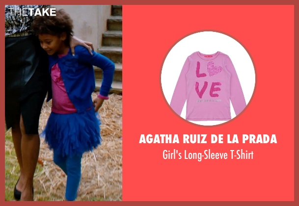 Agatha Ruiz De La Prada pink t-shirt from Addicted seen with Unknown Actor (Unknown Character)